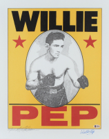 Willie Pep Signed LE 16x20 Lithograph (Beckett COA) at PristineAuction.com