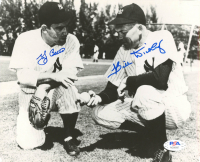 Yogi Berra & Bill Dickey Signed Yankees 7.5x9 Photo (PSA LOA) at PristineAuction.com