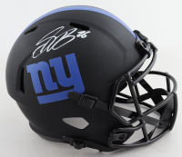 Saquon Barkley Signed Giants Full-Size Eclipse Alternate Speed Helmet (Beckett COA) at PristineAuction.com