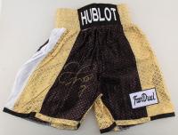 Floyd Mayweather Jr. Signed Boxing Trunks (PSA Hologram) (See Description) at PristineAuction.com
