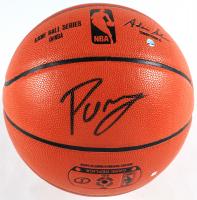 Kristaps Porzingis Signed NBA Game Ball Series Basketball (Steiner Hologram & Fanatics Hologram) at PristineAuction.com