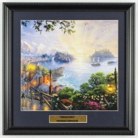 "Thomas Kinkade Walt Disney's ""Pinocchio"" 16x16 Custom Framed Print Display at PristineAuction.com"