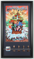 "Disneyland ""Splash Mountain"" 15x26 Custom Framed Print Display with Vintage Pin & Complete Set of (8) Splash Mountain Souvenir Coins at PristineAuction.com"