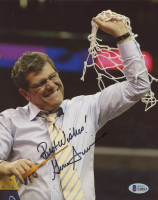 """Geno Auriemma Signed UConn Huskies 8x10 Photo Inscribed """"Best Wishes!"""" (Beckett COA) at PristineAuction.com"""
