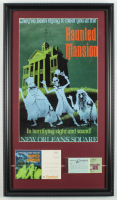 "Disneyland ""Haunted Mansion"" 15x26 Custom Framed Print Display with Vintage Envelope & Disneyland Ticket at PristineAuction.com"