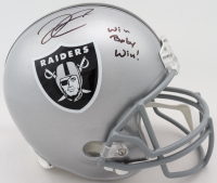 """Derek Carr Signed Raiders Full-Size Helmet Inscribed """"Win Baby Win"""" (Beckett COA) at PristineAuction.com"""