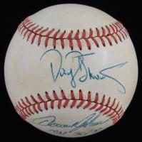 "Darryl Strawberry & Howard Johnson Signed ONL Baseball Inscribed ""1987 30 / 30"" (JSA COA) (See Description) at PristineAuction.com"