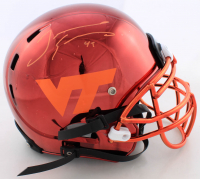 Tremaine Edmunds Signed Virginia Tech Hokies Full-Size Authentic On-Field Chrome Helmet (Beckett COA) (See Description) at PristineAuction.com