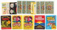 Lot of (17) Vintage Trading Cards with 1980 Midway Pac-Man Stickers, 1980 Midway Pac-Man Stickers, (2) 1978 Paramount Grease Wax Packs at PristineAuction.com