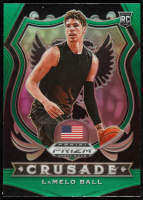 LaMelo Ball 2020-21 Panini Prizm Draft Picks Prizms Green #83 CR RC at PristineAuction.com