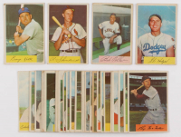 Lot of (30) 1954 Bowman Baseball Cards with #110 Red Schoendienst, #50 George Kell, #132 Bob Feller, #138A Gil Hodges at PristineAuction.com
