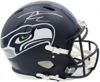 Russell Wilson Signed Seahawks Full-Size Authentic On-Field Speed Helmet (Wilson Hologram) at PristineAuction.com