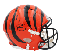 "Chad ""Ochocinco"" Johnson Signed Bengals Full-Size Authentic On-Field Speed Helmet Inscribed ""Ocho Cinco"" (Radtke COA) at PristineAuction.com"