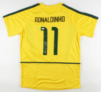 "Ronaldinho Signed Brazil National Team Jersey Inscribed ""R10"" (Beckett COA) at PristineAuction.com"