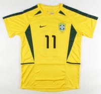 "Ronaldinho Signed Brazil National Team Jersey Inscribed ""R10"" (Beckett COA) at PristineAuction.com"