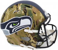 Russell Wilson Signed Seahawks Full-Size Camo Alternate Speed Helmet (Wilson Hologram) at PristineAuction.com