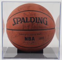 2000's Clippers NBA Basketball Signed by (12) with Lamar Odom, Elton Brand, Rex Kalamian, Keyon Dooling & Display Case (JSA ALOA) at PristineAuction.com