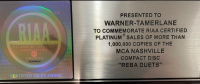"Reba McEntire ""Duets"" 17.5x21.5 Custom Framed Platinum 1,000,000 Sales Award at PristineAuction.com"