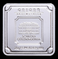 20 gram Geiger Mint Silver Square at PristineAuction.com