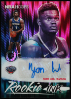 Zion Williamson 2019-20 Hoops Premium Stock Rookie Ink Flash #6 at PristineAuction.com