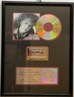 "Reba McEntire ""For My Broken Heart"" 13x17 Custom Framed Platinum 1,000,000 Sales Award at PristineAuction.com"