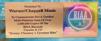 "Kenny Chesney ""Greatest Hits"" 17x21 Custom Framed Multi-Platinum 2,000,000 Sales Award at PristineAuction.com"