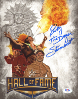"Ricky ""The Dragon"" Steamboat Signed WWE 8x10 Photo Inscribed ""The Dragon"" (PSA COA) at PristineAuction.com"