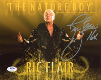 "Ric Flair Signed WWE 8x10 Photo Inscribed ""16x"" (PSA Hologram) at PristineAuction.com"