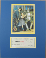 """Jack Haley Signed """"The Wizard Of Oz"""" 16x20 Custom Matted Personal Bank Check Display (JSA COA) at PristineAuction.com"""