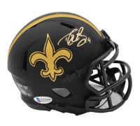 Drew Brees Signed Saints Eclipse Alternate Speed Mini Helmet (Beckett COA) at PristineAuction.com