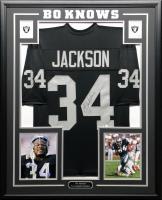 Bo Jackson Signed 34.5x42.5 Custom Framed Jersey (Beckett COA) at PristineAuction.com