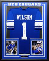 Zach Wilson Signed 34.5x42.5 Custom Framed Jersey (Beckett COA) at PristineAuction.com
