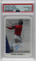 Rafael Devers 2015 Leaf 25th Clear Acetate Autographs Blue #RD1 (PSA Encapsulated) at PristineAuction.com