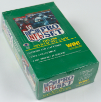 1990 NFL Pro Set Series 1 Football Wax Box of (36) Packs at PristineAuction.com