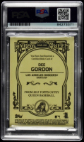 Dee Gordon Signed 2013 Topps Gypsy Queen Relics #DG (PSA Encapsulated) at PristineAuction.com