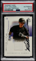 Matt Williams Signed 2001 SP Game Used Edition Authentic Fabric #MW (PSA Encapsulated) at PristineAuction.com