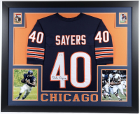 Gale Sayers Signed 35x43 Custom Framed Jersey (PSA COA) (See Description) at PristineAuction.com