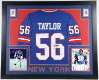 Lawrence Taylor Signed 35x43 Custom Framed Jersey (JSA COA) (See Description) at PristineAuction.com