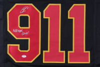 """Robert O'Neill Signed """"The Operator"""" 9/11 Tribute Jersey Inscribed """"Never Quit"""" (PSA COA) at PristineAuction.com"""