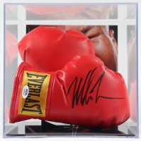 Set of (2) Everlast Boxing Gloves with (1) Mike Tyson Signed Glove with Display Case (PSA COA) at PristineAuction.com