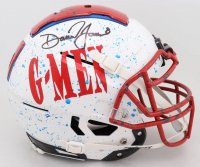 Daniel Jones Signed Full-Size Authentic On-Field Hydro-Dipped F7 Helmet (Beckett COA) at PristineAuction.com