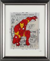 "Marvel Comics ""Iron Man"" 13x16 Custom Framed Hand-Painted Animation Cel Display at PristineAuction.com"