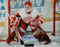Chris Osgood Signed Red Wings 11x14 Photo (PSA COA) at PristineAuction.com