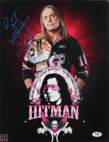 "Bret ""Hitman"" Hart Signed WWE 11x14 Photo (PSA COA) at PristineAuction.com"