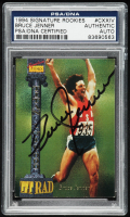 Bruce Jenner Signed 1994 Signature Rookies #124 Card (PSA Encapsulated) at PristineAuction.com
