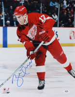 Brett Hull Signed Red Wings 11x14 Photo (PSA COA) at PristineAuction.com