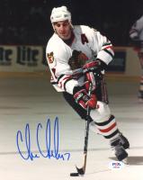 Chris Chelios Signed Blackhawks 8x10 Photo (PSA COA) at PristineAuction.com