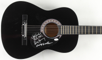 "38"" Acoustic Guitar Band-Signed by (4) with Rusty Young, Paul Cotton, Jack Sundrud, & George Grantham (JSA Hologram) at PristineAuction.com"