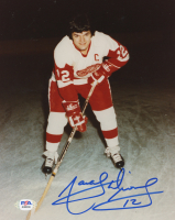 Marcel Dionne Signed Red Wings 8x10 Photo (PSA COA) at PristineAuction.com