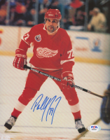 Paul Coffey Signed Red Wings 8x10 Photo (PSA COA) at PristineAuction.com